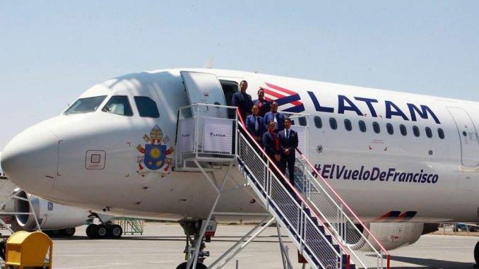 Latam transportará o Papa Francisco para o Chile e Peru