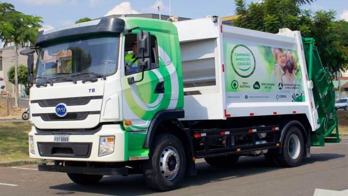 200 caminhões 100% elétricos