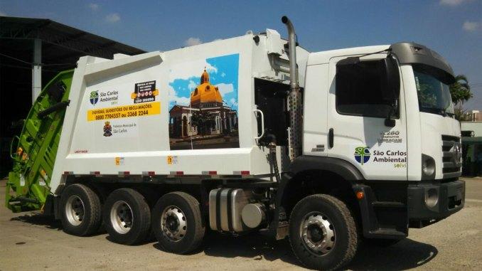 supercaminhão para coleta de resíduos