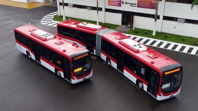 342 ônibus com motorização Euro 6 e encarroçados pela Marcopolo