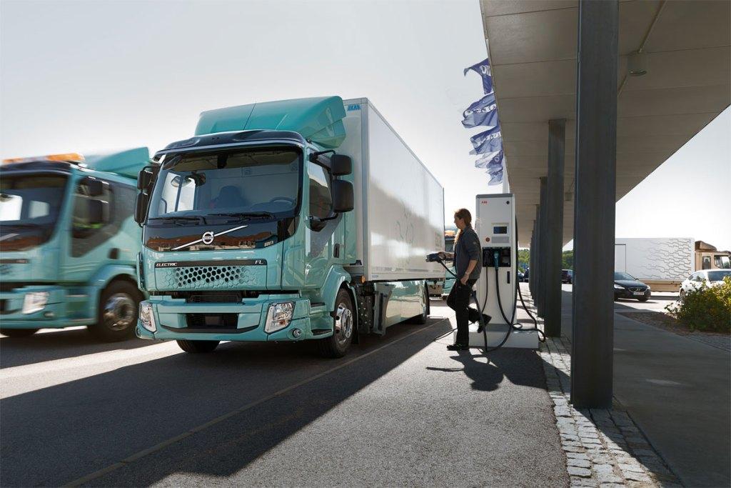 caminhões 100% elétricos da Volvo