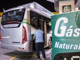 ônibus Scania a gás natural