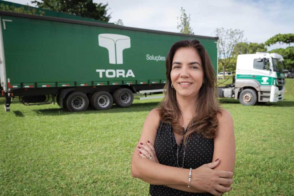 Janaína Araújo, diretora-presidente da Tora Transportes