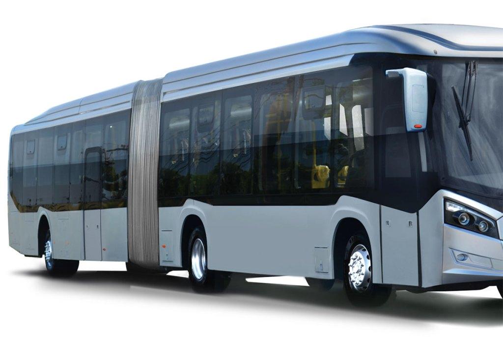 ônibus articulados elétricos