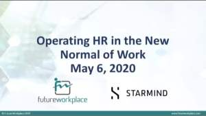 Webinar: Operating HR in the New Normal of Work