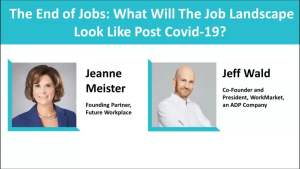 Webinar: The End of Jobs: What Will The Job Landscape Look Like Post Covid-19