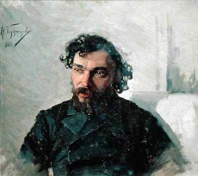 Nikolai Dmitrievich Kuznetsov fırçasından ressam Ivan Pochintonov