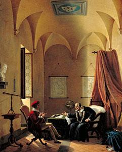 Görseller: John Milton ve Galileo Galilei buluşması