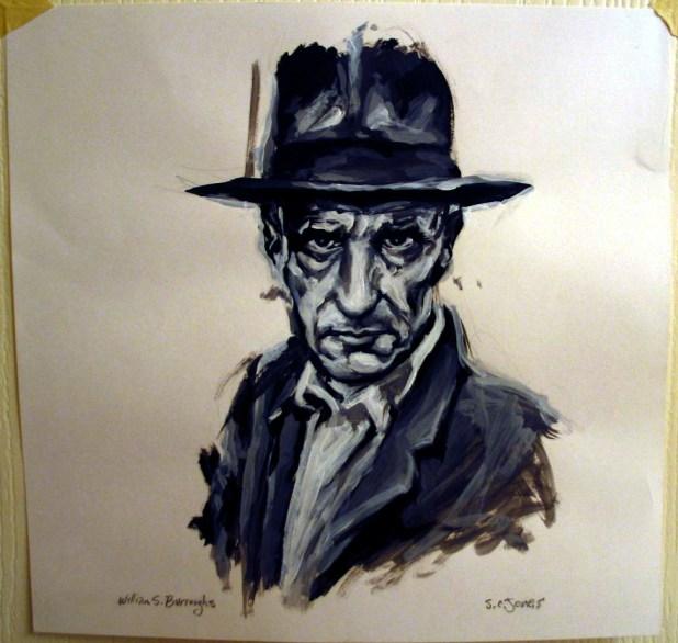 William S Burroughs portre: S. C Jones