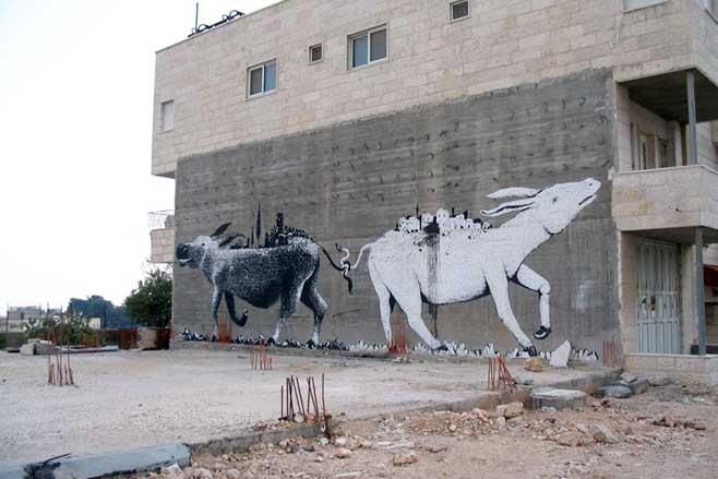 Sam 3 ve Erica il Cane (Eric the Dog) tarafından yapılan bir başka duvar resmi