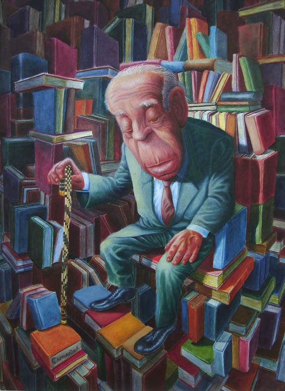 Jorge Luis Borges İllüstrasyon: Gabriel Caprav