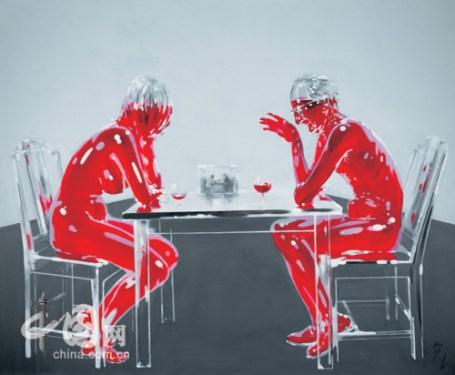 Wu Mingzhong, 'Stupid Painter Wu Mingzhong Apologizes to Duchamp's Work by Playing Chess', 2006