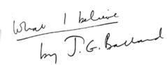 [J.G. Ballard] İnanıyorum 2