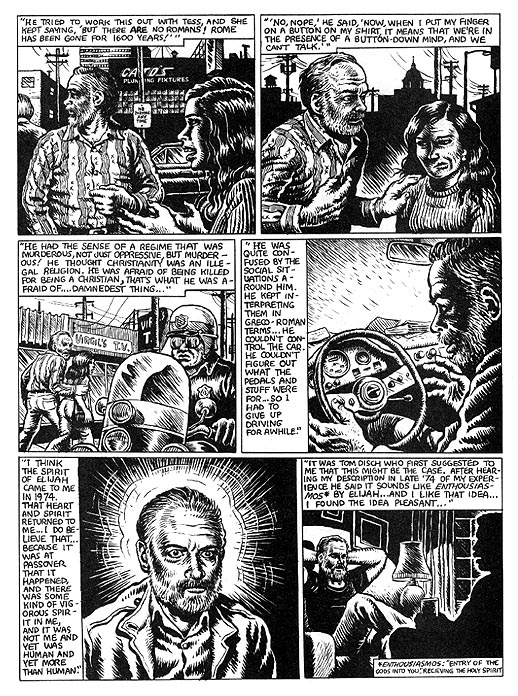 The Religious Experience of Philip K. Dick by R. Crumb from Weirdo #17 6