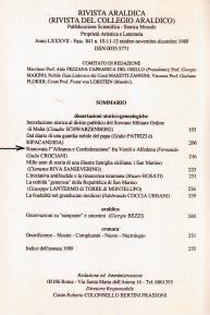 Articolo del Conte Prof. Fernando Crociani Baglioni in Rivista Araldica del 1989.