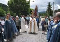 La processione con le statue di S. Maria Salome e S. Pietro martire.