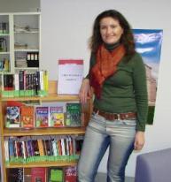 Simona Cecilia Farcas, la inaugurarea secțiilor de carte în limba română la Roma, 12 ianuarie 2008