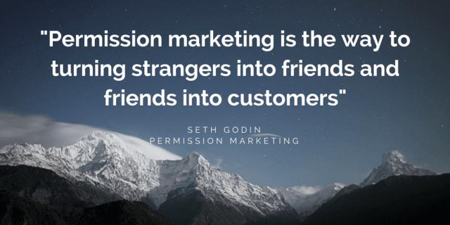 Quote by Seth Godin _ Permission Marketing by FutursTalents