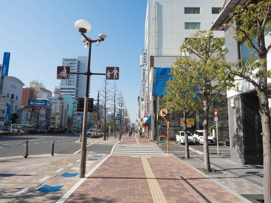 熊五郎:桃太郎大通りを東から西へ望む
