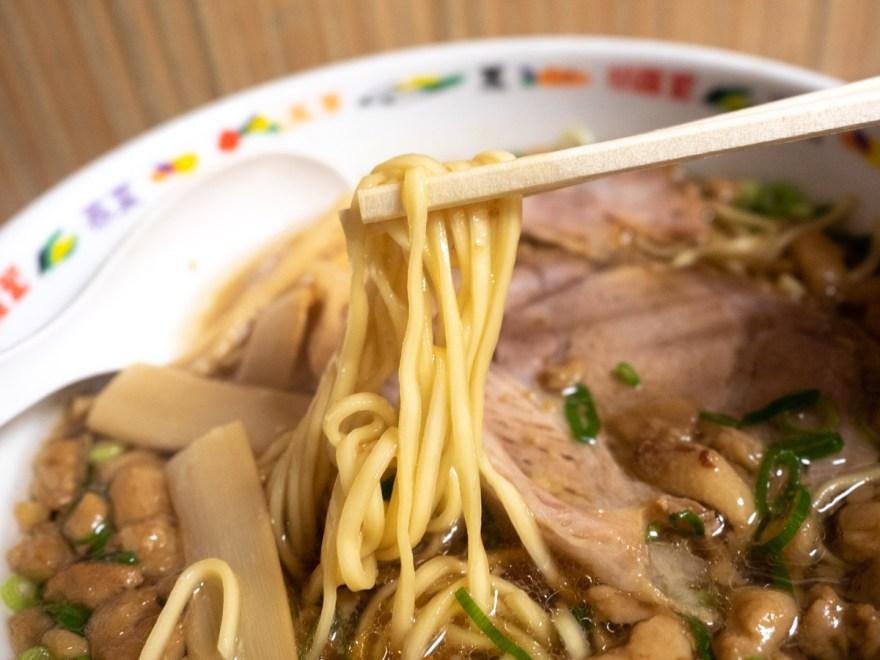 雑兵:尾道醤油ラーメンの麺