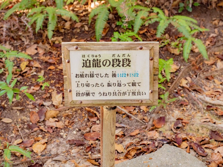 石上布都魂神社:奥宮(本宮)参道