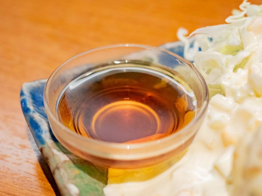 宮園:鶏づくし定食のチキン南蛮の甘酢タレ