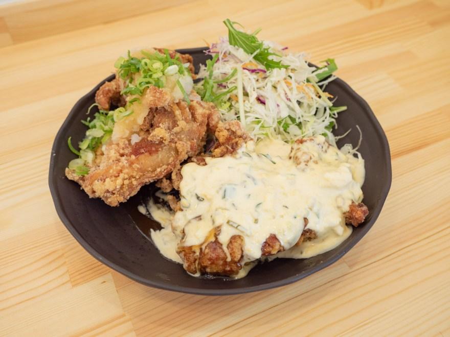 日鶏ひとり:半々定食(おろしポン酢+チキン南蛮)