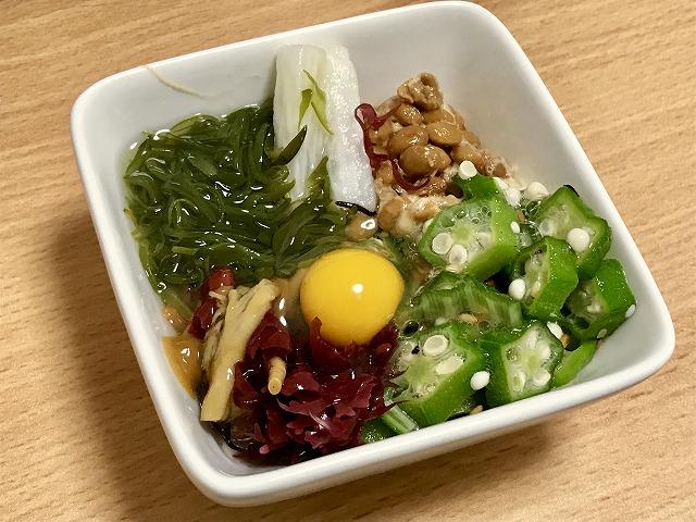 納豆_ネバネバ月見サラダ納豆02