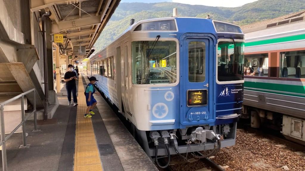 藍よしのがわトロッコに、阿波池田から徳島まで乗車