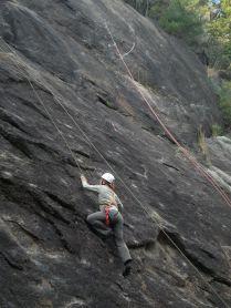 南山 女岩リードクライミング
