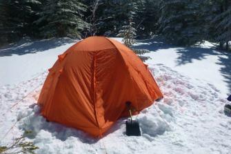 冬の八ヶ岳 テン場