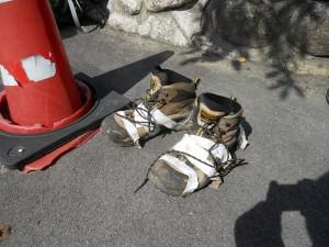 10年物登山靴 無残な姿!