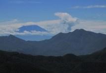 富士山も頭を出していまっした。