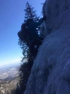 小滝を登攀2