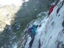 小滝前の登攀
