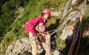 2P目確保地点 ツルベで登る