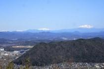 三峰山山頂は360°視界良好