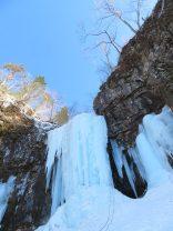 ④大滝を懸垂下降