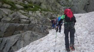 雪渓のシュルンド