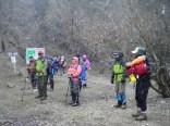 8合目休憩、激しい雪