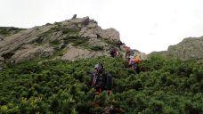 モノリス岩の下部を登攀