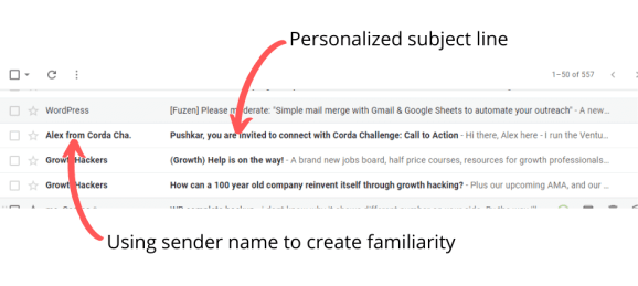 personalization is an effective element of best practices for email subject lines