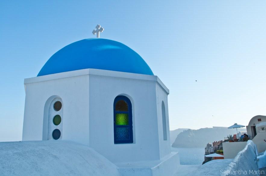 Blue dome in Oia