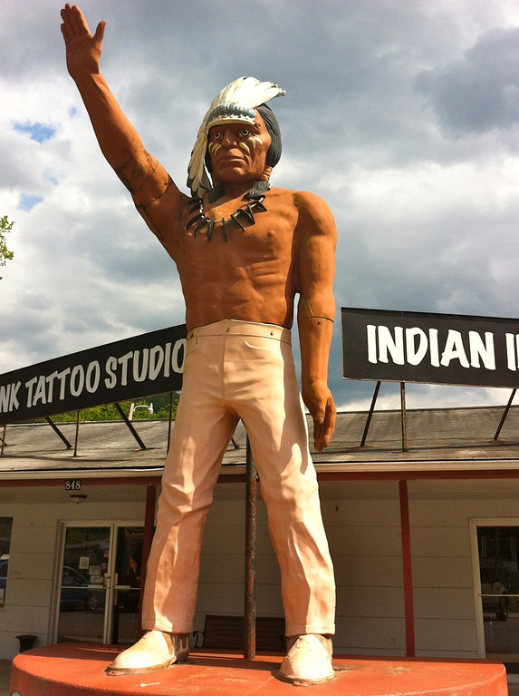 Cherokee Muffler Man Indian