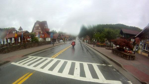 raining in Helen Georgia