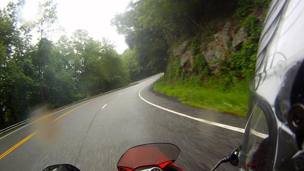 129 in the rain