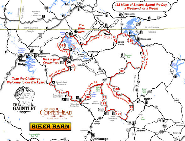 The Gauntlet - Georgia Motorcycle Ride