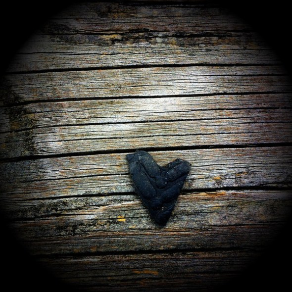 Black rubber heart