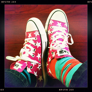 Fuzzygalore Pink Star Converse