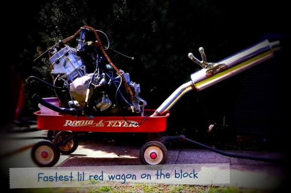 F4i guts in the Radio Flyer